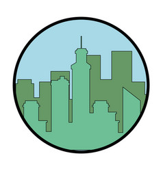 Silhouette of urban city vector
