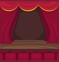 Small stage for comic monologues and magician vector