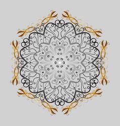 Snowflakes decoration winter snow icons vector