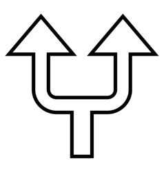 Split arrow up thin line icon vector