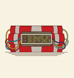 ticking time bomb flat vector image