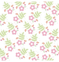 flowers floral pattern icon vector image
