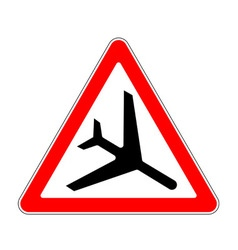 Road sign warning vector