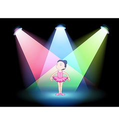 A stage with a ballet dancer vector