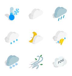 Meteorology icons isometric 3d style vector