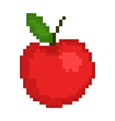 Pixel an apple vector