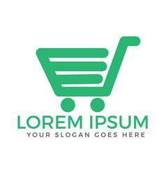 shopping cart logo design vector image