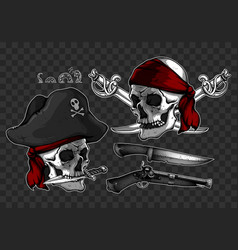 Set of pirates elements vector