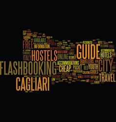 Free travel guide of cagliari in italy text vector