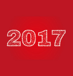 2017 happy new year on red background stock - vector image vector image