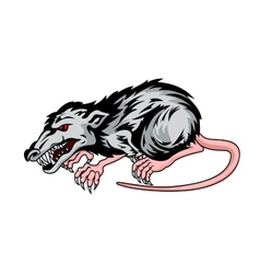 Danger rat vector