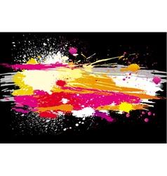 grunge backgrounds on a black background vector image