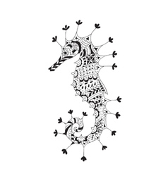 Stylized silhouette of a sea horse vector