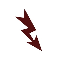 Lightning icon flat vector