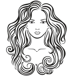 Beautiful girls face vector