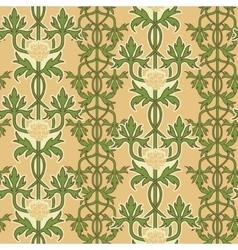 Vintage seamless pattern art nouveau ornament vector