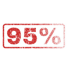 95 percent rubber stamp vector