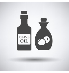 Bottle of olive oil icon vector