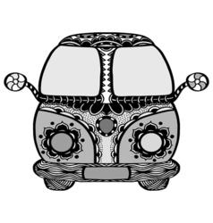 Vintage car a mini van vector