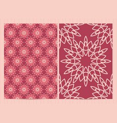 A4 format cards decorated with mandala in pink vector