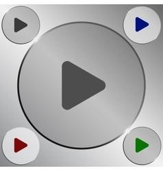 Arrow right play icon vector image vector image