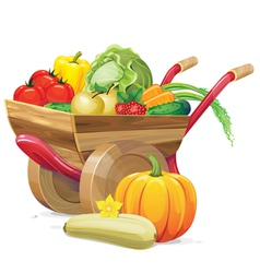 barrow vegetable vector image