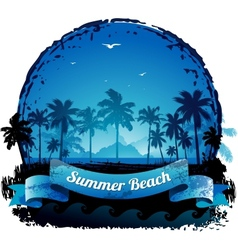 Beautiful blue tropical summer vacation background vector image vector image
