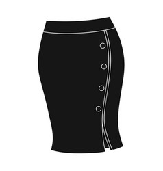 blue-fitting skirt with slit and buttons part vector image vector image