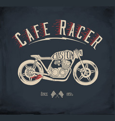 Cafe racer motorcycle vector