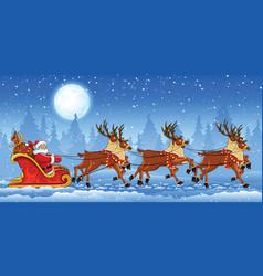 Christmas santa claus riding vector