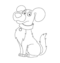Cute dog coloring book page for children vector image vector image