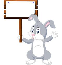 cute rabbit cartoon vector image vector image