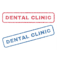 Dental clinic textile stamps vector