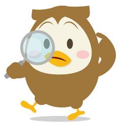 Detective owl character vector