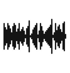 Equalizer vibration icon simple black style vector