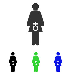 Female sexual disfunction flat icon vector