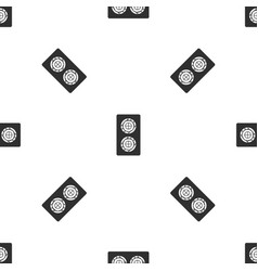 fish roll pattern seamless black vector image vector image
