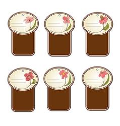 floral labels set vector image
