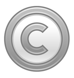gray copyright symbol sign matte icon vector image