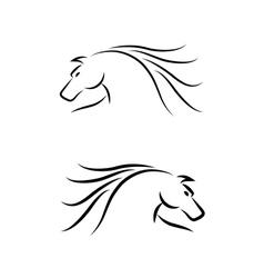 Horse Emblem Set vector image vector image