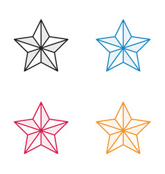 Icon christmas star dotted style vector