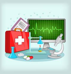 medicine concept cartoon style vector image