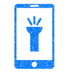 Mobile torch app grunge icon vector
