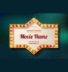 Movie time cinema premiere poster design vector