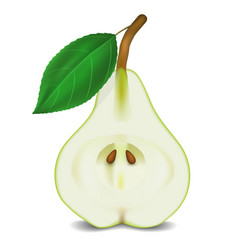 pear on white background vector image vector image