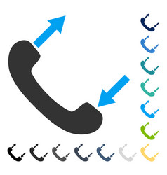 Phone talking icon vector