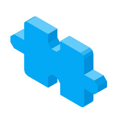 puzzle piece 3d icon isolated vector image vector image