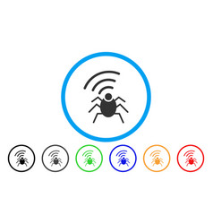 radio spy bug rounded icon vector image