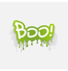 Realistic design element boo vector
