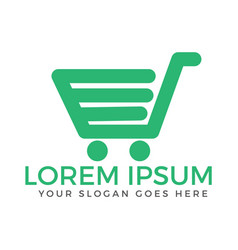 Shopping cart logo design vector